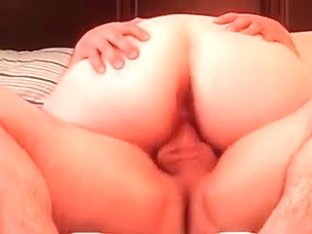 Passionate amateur chubby wife enjoying an amazing cock ride in bed