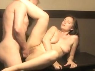 Bored hot wife gets drilled and seeded on the sofa by a hung stranger