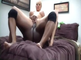 Wild fake tits blonde fucked hard by a black stud