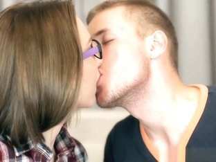 Teen Russian in glasses pleased well by big dick
