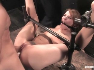 Dana DeArmondTrapped in the ultimate of 'fuck me'positions and drilled in the ass!