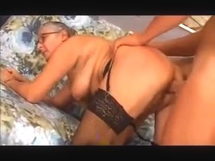 Old granny takes it in the ass
