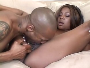 Voluptuous ebony lady finds the pleasure she desires in a black dick