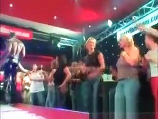 Hot Stripper In Police Suit Dancing At A Sex Party
