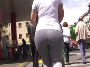 spanish milf ass in gray tights