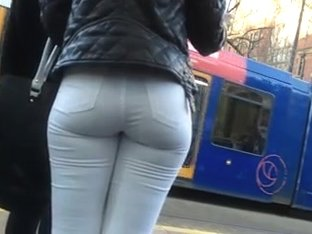 white jeans with nice ass on the street