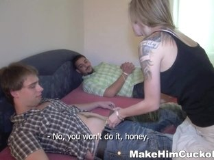 Make Him Cuckold - Angel Piaff - His gf can be such a whore