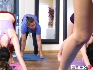 Blair Williams In Downward Dog