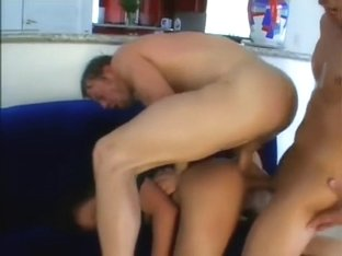 Two dicks in one hole is a very unexpected experience for gentle Asian hooker