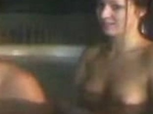 Lesbian sex in a hot tub with my bf