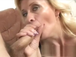 Lustful blonde granny in lingerie Lena feeds her desire for rough sex