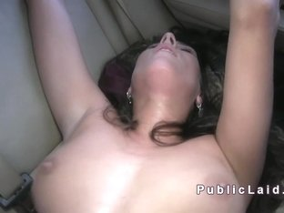 Czech amateur bangs in panties in the car