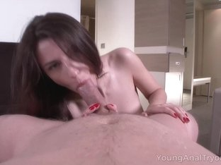 Babe fills asshole with favorite sex toy