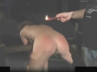 Curly slave spanked and fucked in bondage