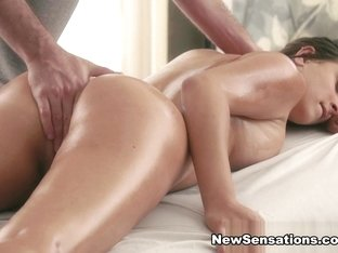 Ashley Adams  James Deen in Ashley Gets A Hot Rubdown At The Spa - NewSensations