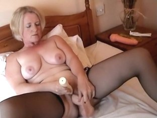 Pale Blonde With Saggy Tits Getting Filled Up