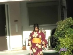 Teen Asian dressed in traditional clothes got boob sharked