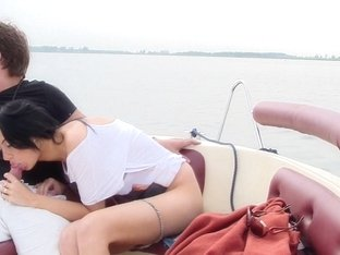 Ella in girl with great amateur tits gets fucked on a boat