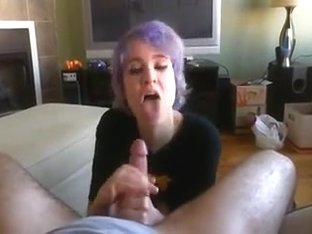 Amateur Lovely GF - Nice Handjob - Cum in Mouth