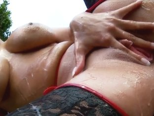 Thrusting a finger in French slut's butt