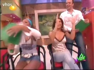 TV show hostess is game for some up skirt porn