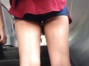 Cute Chinese Girl in Booty Shorts