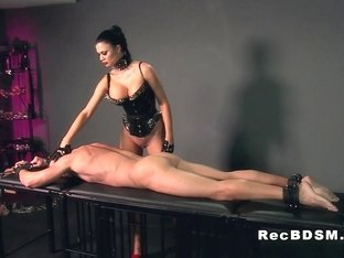 Busty mistress fucks strapped guy bdsm femdom