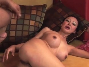 Asian milf Ange Venus gets her ass fucked hard