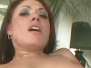 Slut get her face covered in cum after sex