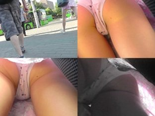 Classic panties of a chick seen in free upskirt video