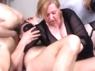 Transvestites In Satin Blouse Bondage