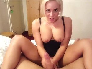 Busty German Sticks Her Tongue in a Guy's Bum