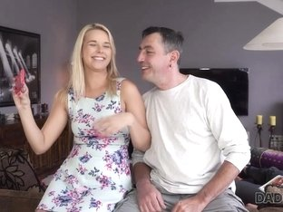 DADDY4K. Excited dad tastes pussy of son's hot and sexy girlfriend