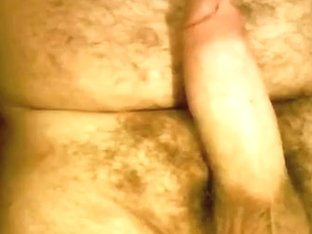 Jerk off and cum bear cub, wanking my big fat dick