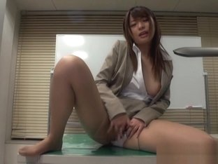 Ayu Sakurai naughty office lady entices co worker with hot masturbation in high heels