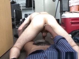 Barebacked casting straighty jerking off