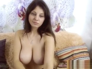 Chained Boobs solo of kinky Mum