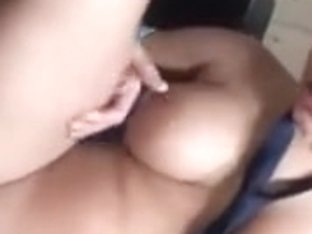 Perfect big boobed brunette stewardess fucked