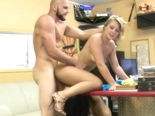 Selling her pussy in the store!
