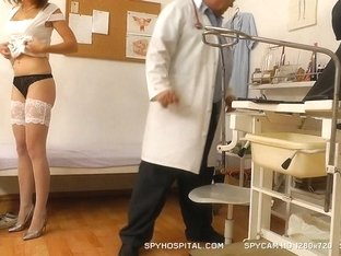 A spy web camera in gyno exam clinic