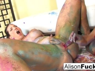 Alison Tyler & Kelly Divine in Painted Lesbians With Alison And Kelly Divine - AlisonTyler
