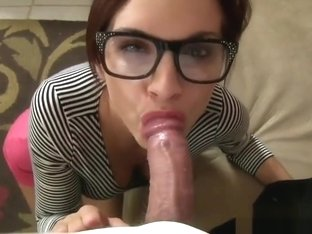 Sexy Boss Blowjob Ashley Sinclair