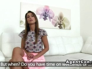 Beautiful model sucks agents dick