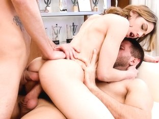 Rachel Adjani in DP & ATM Flavor 2-Girl Orgy Audition - EvilAngel