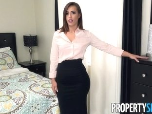 PropertySex Sexy Real Estate Agent With Big Ass Fucks Boss To Keep Job