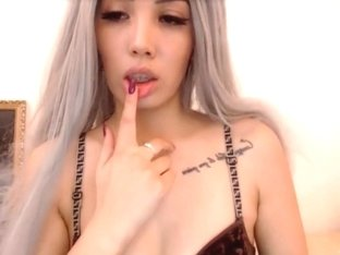 Asian girl strip cam show
