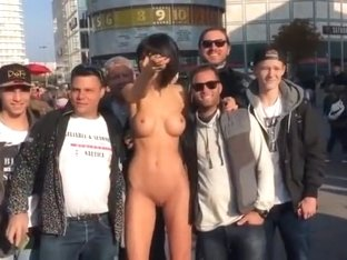 Naked Selfie on Alexanderplatz