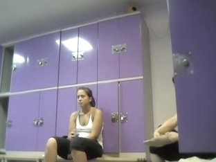 Fat amateur with big belly shakes tits in dressing room vid