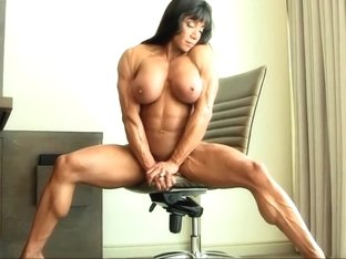 Sexy Muscle Woman Flexing and Posing FBB