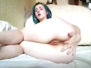 Orgasmic masturbation - pussy and ass fingering